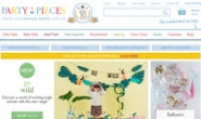 British Party Supplies Website: Party Pieces