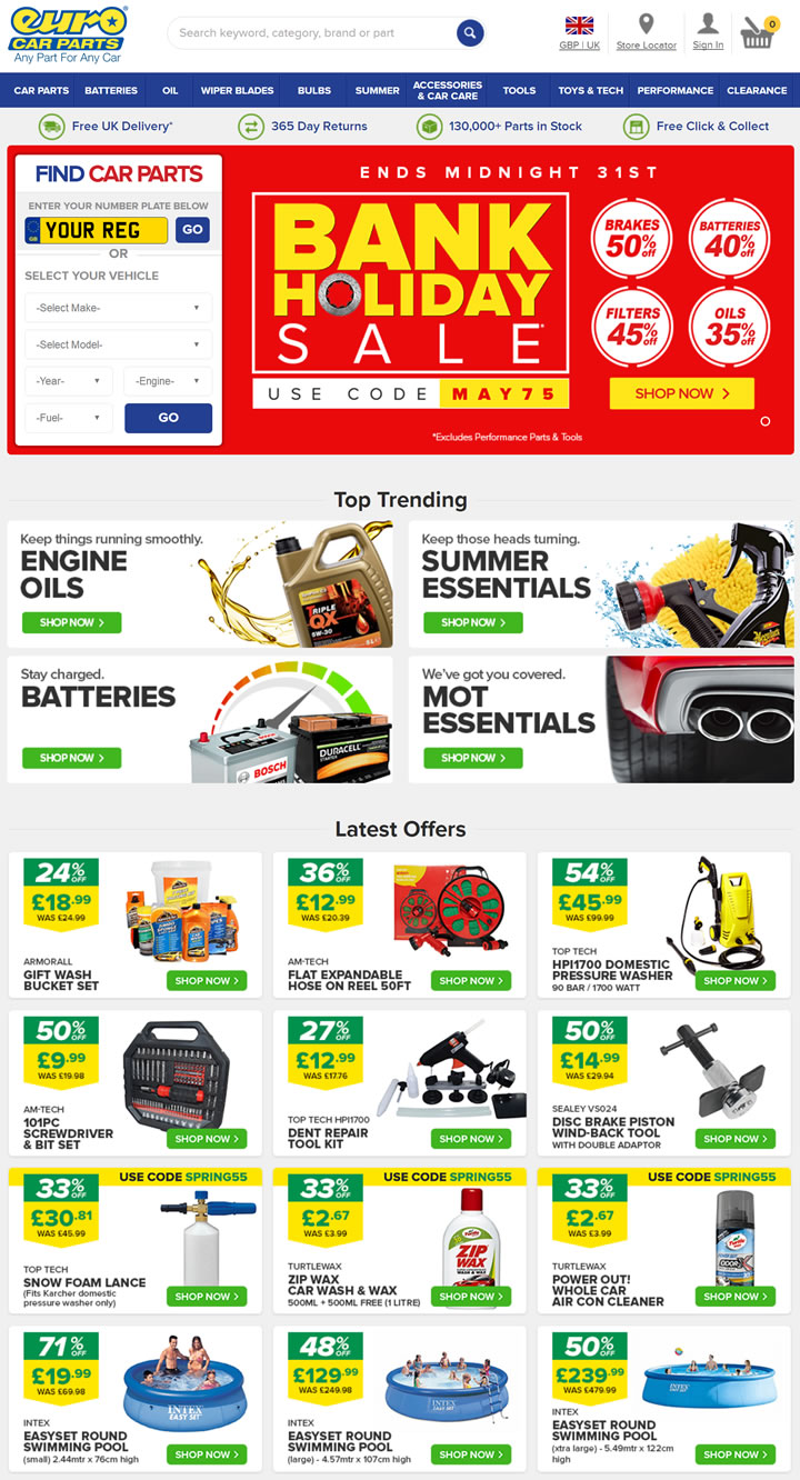 The Uk S Number 1 Provider Of Car Parts Online And In Store Euro