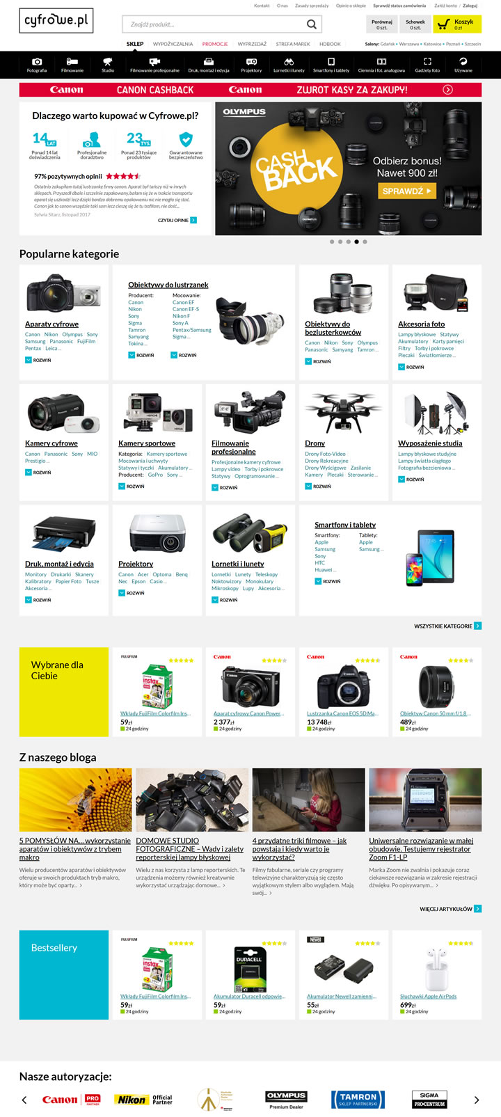 Poland Digital Cameras and Accessories Online Shop Cyfrowe.pl ...